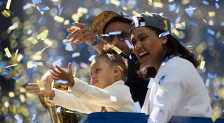 Illustration for article titled Riley Curry Graciously Allows Her Parents to Have a New Baby Curry