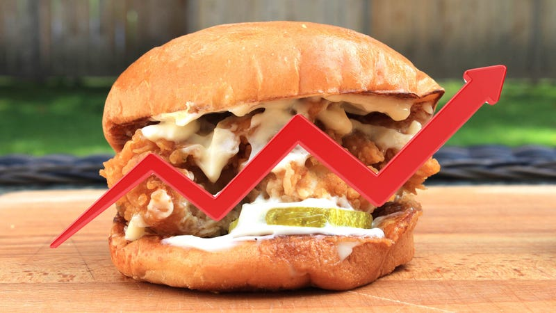 Illustration for article titled Analysts: Popeyes chicken sandwiches appreciate in value on secondary market