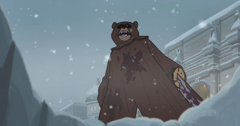 Illustration for article titled The Venture Bros. presents: The lawn dart, the bear, and the wardrobe