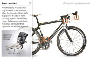 Illustration for article titled Electronic Bicycle Gear Shifting Promises Aerodynamics and Complications