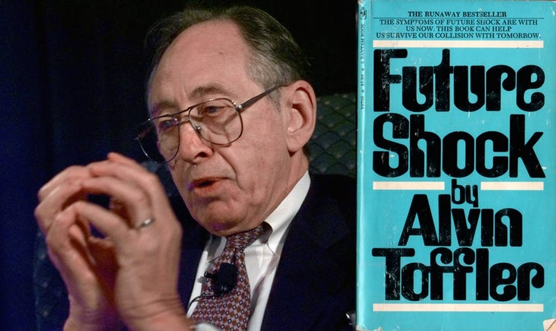 Alvin Toffler in 1998 via the Associated Press