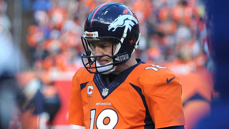 Illustration for article titled Report: Peyton Manning Played Entire Season With 38-Year-Old Body