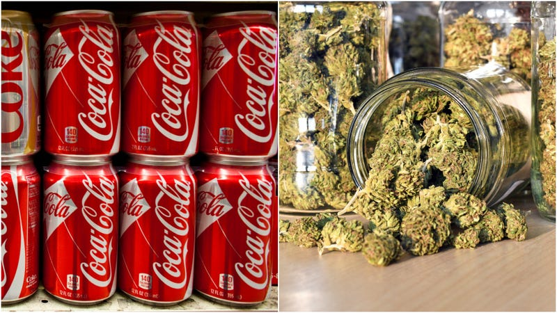 Illustration for article titled Coca-Cola exploring foray into cannabis drinks