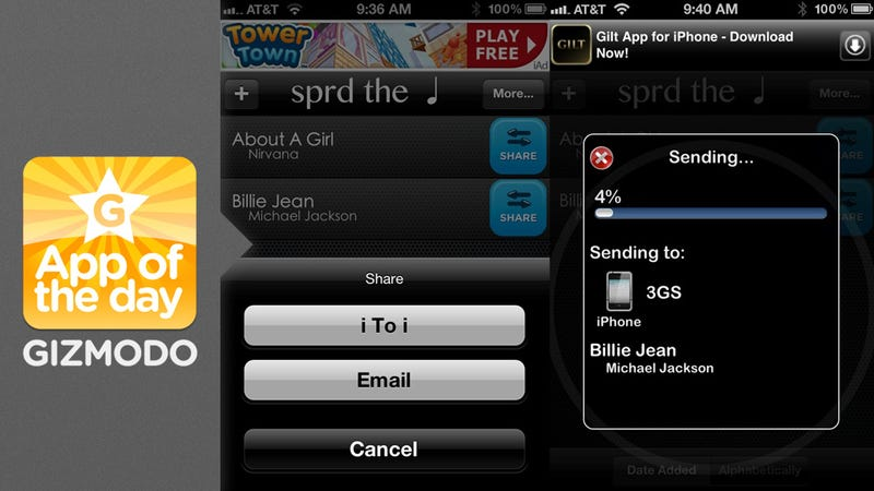 Illustration for article titled Sprd the Note: Peer-to-Peer Music Sharing on Your iPhone