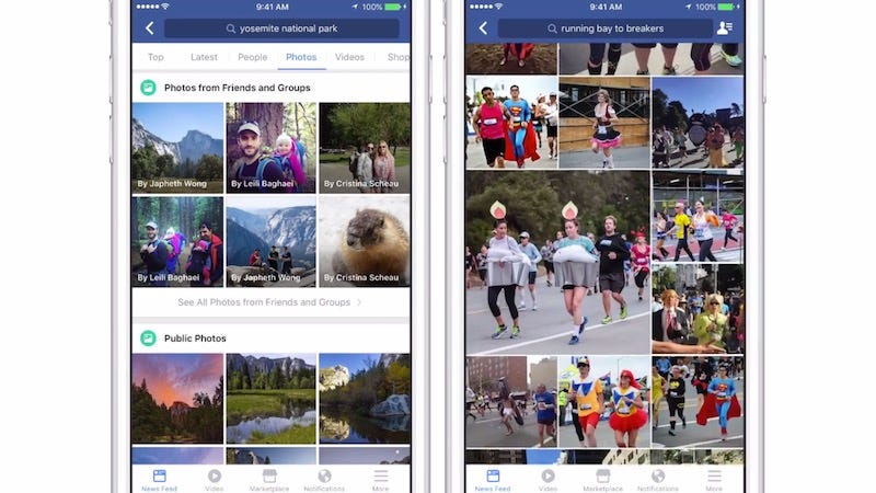 Illustration for article titled You Can Now Search Through Facebook Pictures by Describing Them