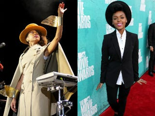 Erykah Badu (Carlos R. Alvarez/WireImage); Janelle Monáe (Kevin Winter/Getty Images)