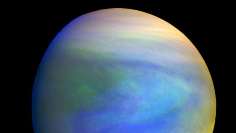 Imagen compuesta de la superficie de Venus tomada por la sonda japonesa Akatsuki