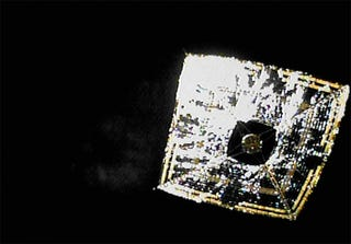 Illustration for article titled Japan's Space-Surfing Solar Sail Photographed For First Time