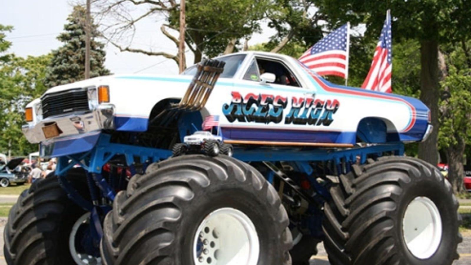 Chevy Trucks Com >> Biggest El Camino Ever? Aces High Monster Truck-Car