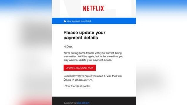 FTC Warns of Sketchy Netflix Phishing Scam Asking for Payment Details