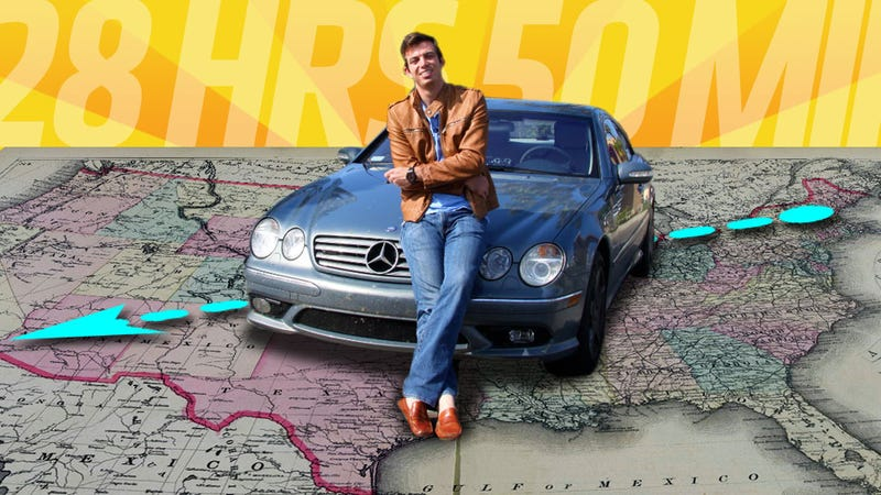 Illustration for article titled Meet The Guy Who Drove Across The U.S. In A Record 28 Hours 50 Minutes