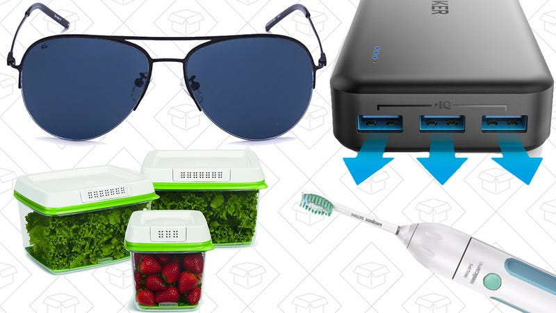 Illustration for article titled Monday's Best Deals: Polarized Sunglasses, Rubbermaid FreshWorks, Fourth of July Sales, and More