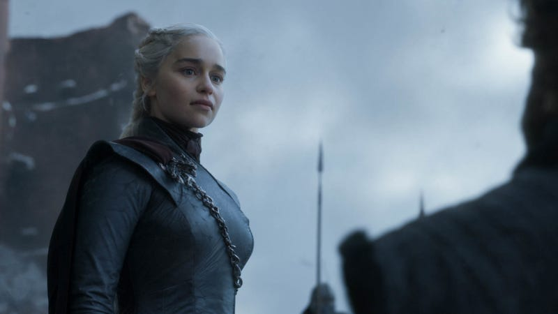 Daenerys (Emilia Clarke) is feelin' pretty great after last week's slaughter.