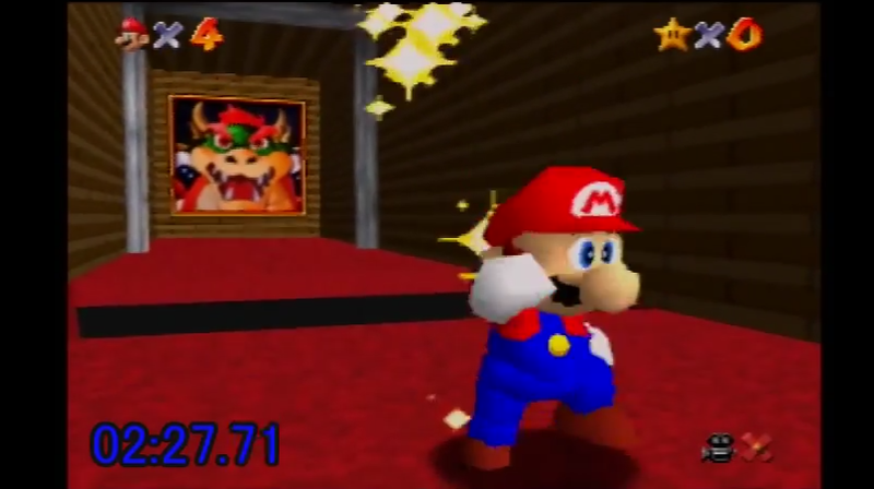 Illustration for article titled A New World Record For Beating Super Mario 64 With No Stars
