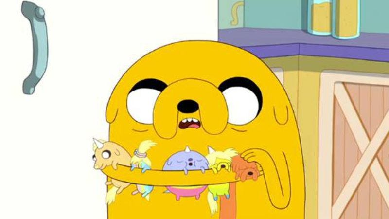 """Illustration for article titled Adventure Time: """"Jake The Dad"""""""