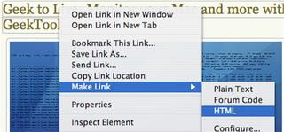 Illustration for article titled Download of the Day: Make Link (Firefox)