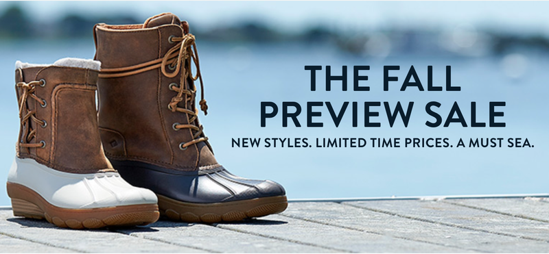 Sperry Fall Preview Sale | Additional clearance sales