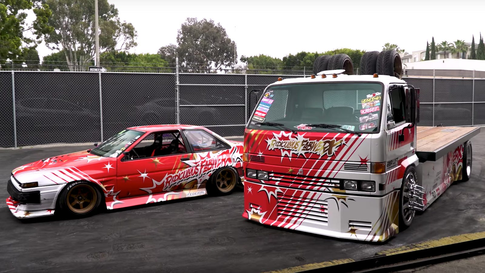 This Ae86 Toyota Corolla Comes With A Matching Custom Car Hauler Hotwheels Ae 86 Red