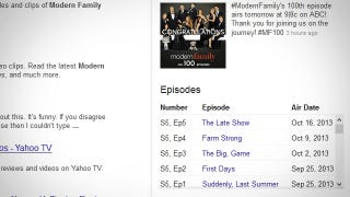 Illustration for article titled Google Search Results Now Tell You When a TV Show Is Airing