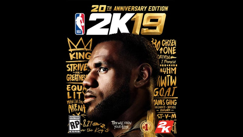 Illustration for article titled LeBron James Is NBA 2K19's Cover Star