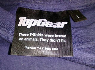 Illustration for article titled Top Gear Merchandise Is Predictably Witty