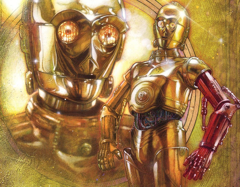 Illustration for article titled Soon, We'll Learn Why C-3P0 Has A Red Arm