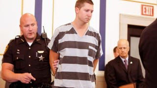 Former University of Cincinnati Police Officer Ray Tensing enters Hamilton County Common Pleas Court to be arraigned on murder charges July 30, 2015, in Cincinnati. Tensing pleaded not guilty in the shooting death of Sam Dubose during a routine traffic stop July 19. Bond was set at $1 million.Mark Lyons/Getty Images
