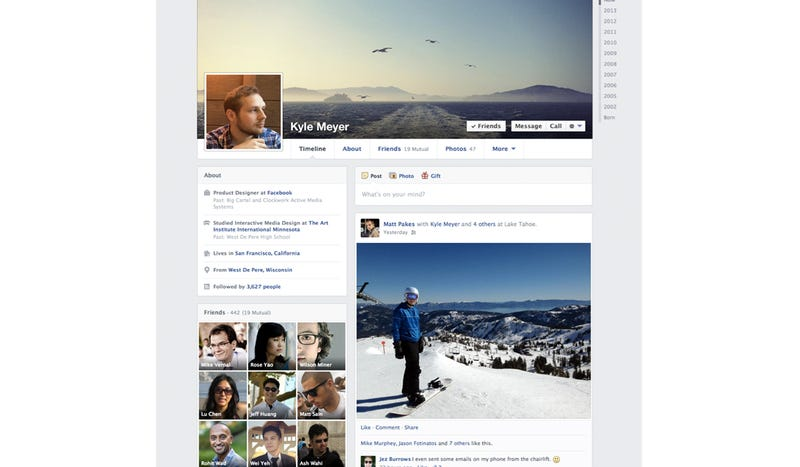 Illustration for article titled Your Facebook Profile Just Changed Again