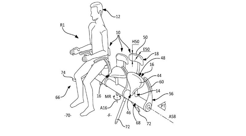 Illustration for article titled Airbus: Who Needs Real Seats When You Can Straddle Bike Saddles?