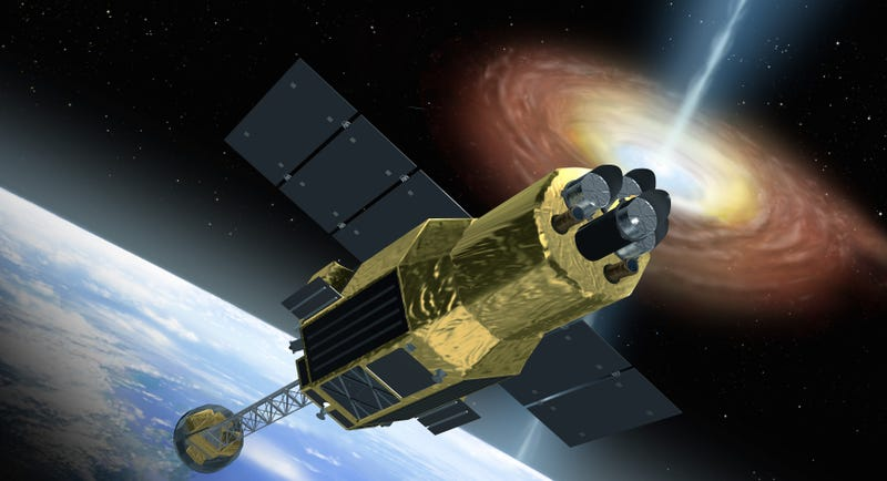 Image: Artist's concept of Hitomi, scoping out a black hole / JAXA