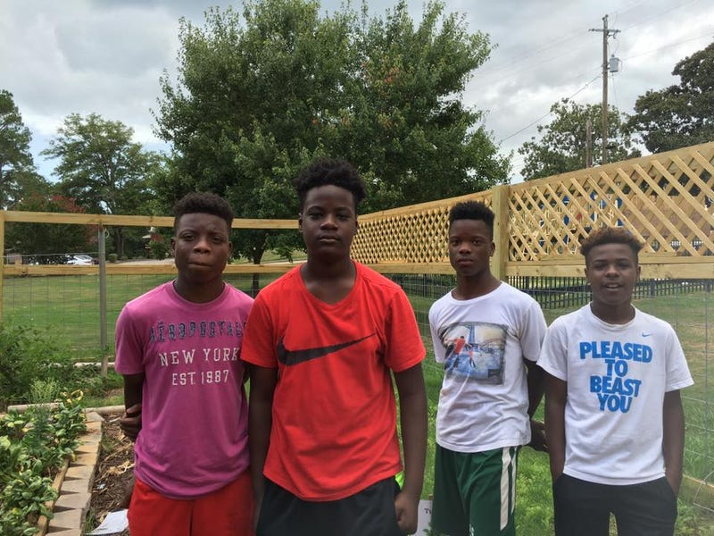 The four young teens who were hired by the head of LaGrange, Ga.'s housing authority, Zsa Zsa Heard,  after they asked for jobs in order to avoid gangs. Zsa Zsa Heard via Facebook