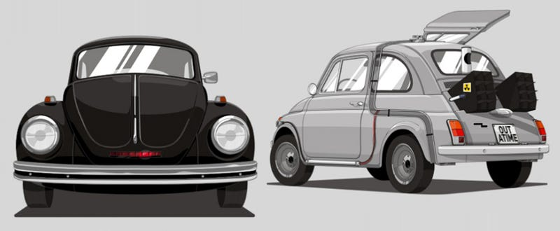 Illustration for article titled These would be the vehicles of famous heroes if they were on a budget