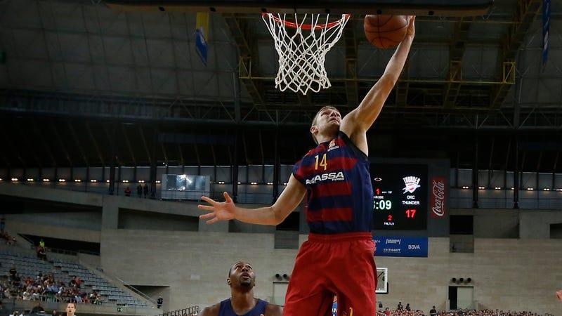 Photo Credit: Manu Fernandez/AP (Aleksandar Vezenkov playing for Barcelona)