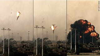 Illustration for article titled A MiG-23 fighter jet plummets from the skies over Libya