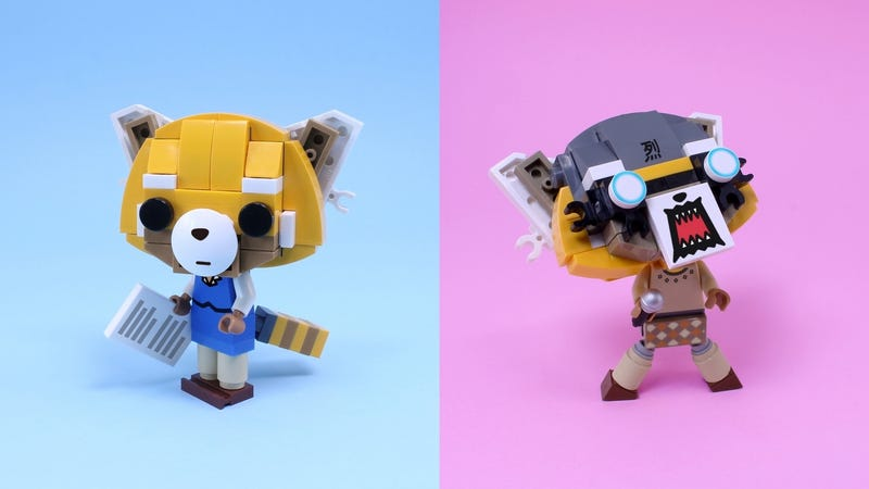 this aggretsuko lego playset turns the existential dread lurking