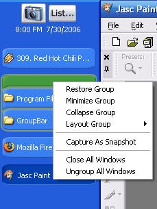 Illustration for article titled Download of the Day:  GroupBar window manager