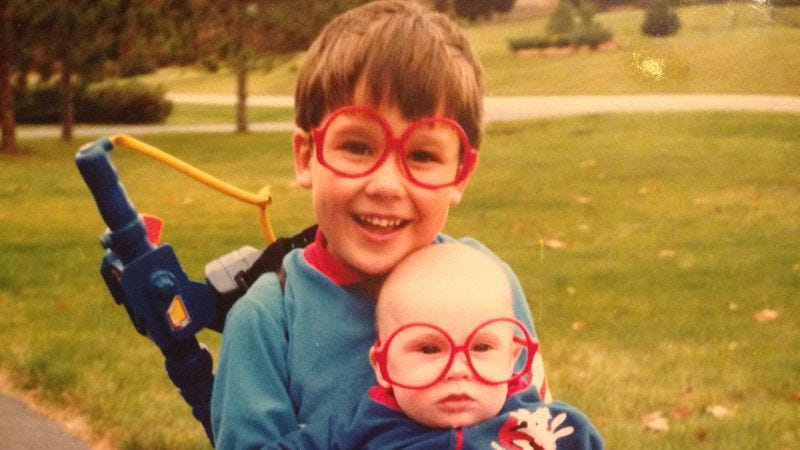 The author and his younger brother, circa 1989
