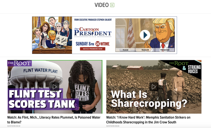 Illustration for article titled Added Video Section to The Root