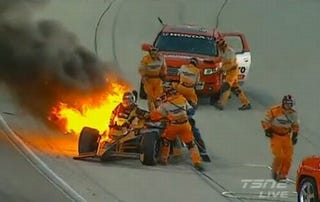 Illustration for article titled IndyCar: Crews, Equipment Failed In Botched Rescue