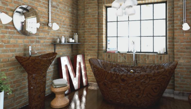 Illustration for article titled This Chocolate Bathroom Is Entirely Unnecessary But I Want It SO Much