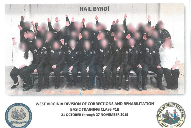 Illustration for article titled 3 Fired, 34 Suspended After Picture of Corrections Employees Making Nazi Salute Surfaces