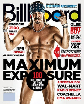 Illustration for article titled Bret Michaels, Absurdist, Claims Billboard Abs Are From Sit-Ups