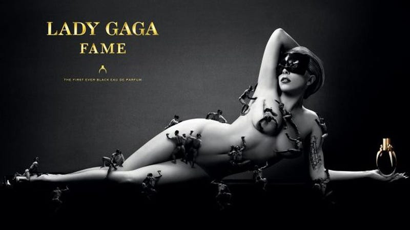 Illustration for article titled Lady Gaga Is Naked and Crawling with Men in New Perfume Ad