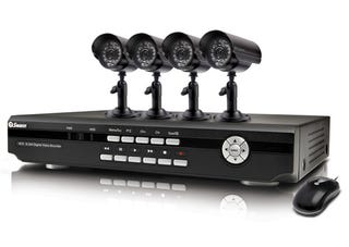 Illustration for article titled Swann DVR4-2500 Home Security System Has Four Cameras and iPhone Streaming