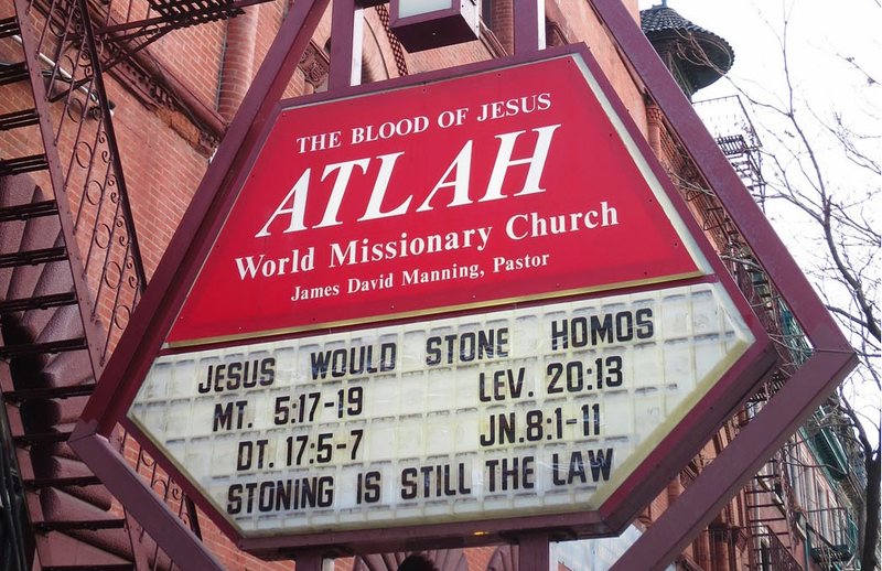 Illustration for article titled Stoning 'Homos' Totally Cool With Jesus Says Harlem Church
