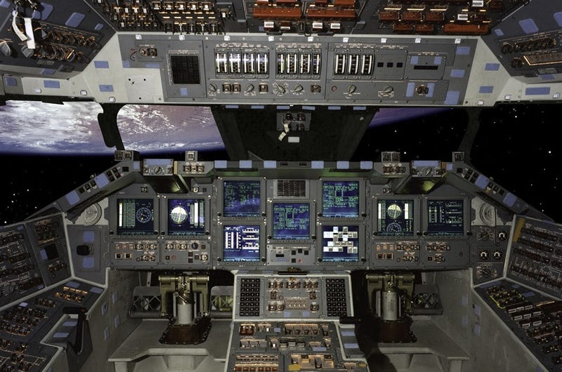 Illustration for article titled Insane UI: High Res Space Shuttle Cockpit Control Photo