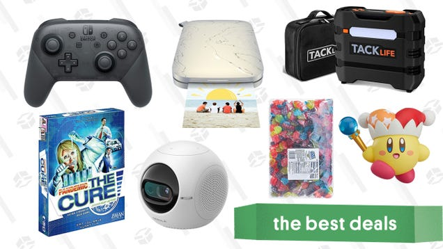 Tuesday's Best Deals: Anker Mini Projector, Nintendo Switch Pro Controller, Pandemic Board Game, Tacklife Tire Inflator and Jump Starter, Jolly Rancher Gummies, and More