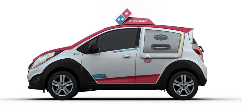Illustration for article titled Domino's Will Dispatch A Fleet Of Compact Cars Turned Into Toaster Ovens