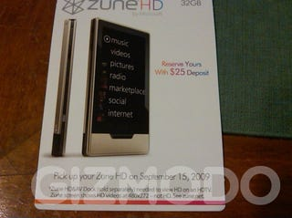 Illustration for article titled Zune HD's Packaging, Release Date Leaked: September 15th