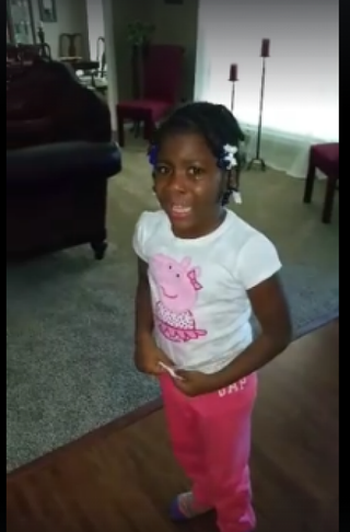 Little girl cries when she learns President Obama is leaving office.Screenshot